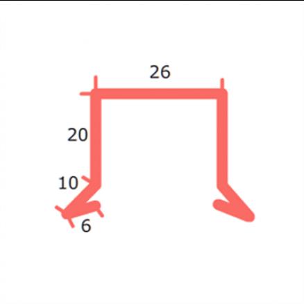 Sternkapsel 26 mm lige. Køb dine alu profiler billigt hos Netbyggemarked.dk