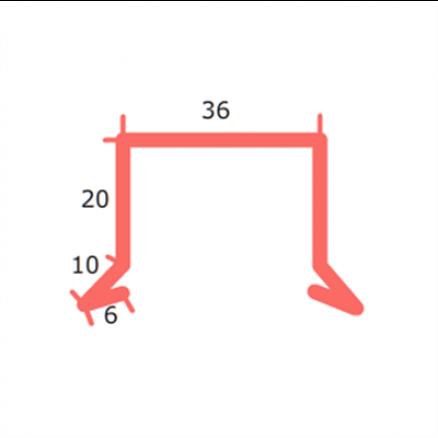 Sternkapsel 36 mm ligesidet