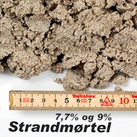 Strandmørtel 7,7% i big bag á ½ m³