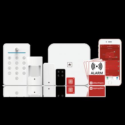 Alarmsystem SikkertHjem S6evo Lejlighedspakken