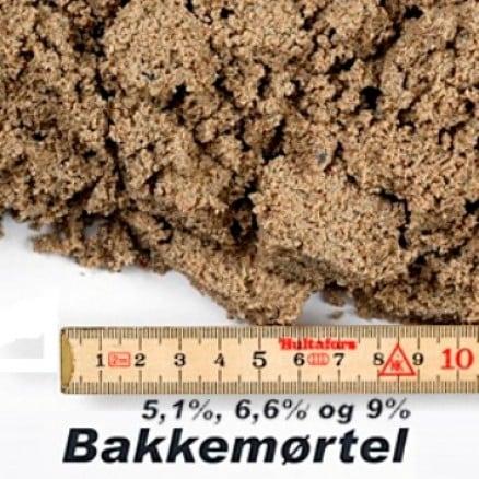Bakkemørtel 9% i big bag á ½ m³