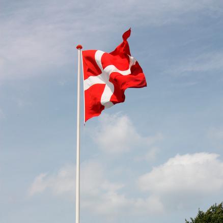 Dano Mast glasfiber flagstang med vippebeslag. Køb ny flagstang i super kvalitet billigst hos Netbyggemarked.dk