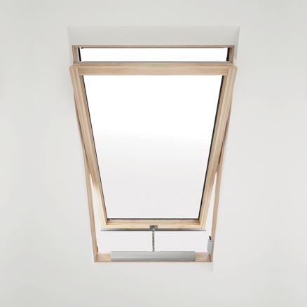 Elektrisk vinduesåbner til Axis ovenlysvinduer monteret i vindue miljø