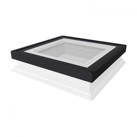 Billigt ovenlys vindue til fladt tag. Køb FAKRO DXG P2 fladtagsvindue hos Netbyggemarked.dk