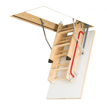 FAKRO LWK Komfort lofttrappe 3 segmenter foldet sammen