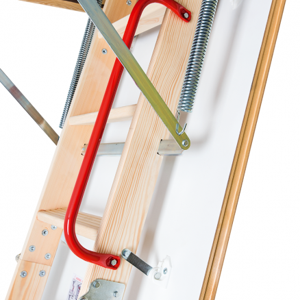FAKRO LWK Komfort lofttrappe 4 segmenter detalje