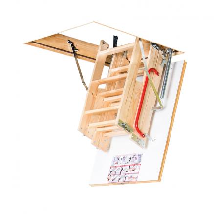 FAKRO LWK Komfort lofttrappe 4 segmenter foldet sammen