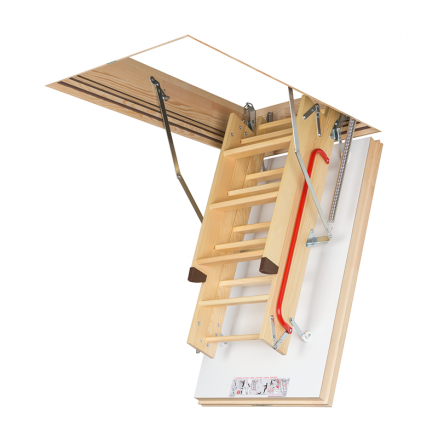 FAKRO LWT Super Energy lofttrappe foldet sammen