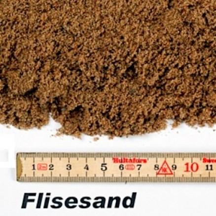 Flisesand / Pudsesand / Støbesand i big bag á ½ m³