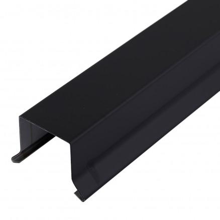Sternkapsel 26 mm lige - sort