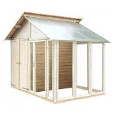 PLUS Redskabsrum / drivhus 6,6 m² ubehandlet