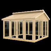 PLUS Multi Pavillon m/14 vinduer og en dobbeltdør, ekskl. gulv.