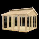 PLUS Multi Pavillon m/14 vinduer, en dobbeltdør og gulv