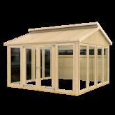 PLUS Multi Pavillon m/10 vinduer, 2 træelementer og dbl. dør, ekskl. gulv.