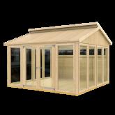 PLUS Multi Pavillon m/10 vinduer, 2 træelementer en dbl. dør og gulv