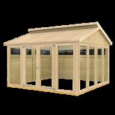 PLUS Multi Pavillon m/6 vinduer, 4 træelementer og dbl. dør, ekskl. gulv