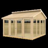 PLUS Multi Pavillon m/6 vinduer, 4 træelementer en dbl. dør og gulv