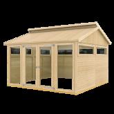 PLUS Multi Pavillon m/2 vinduer, 6 træelementer og dbl. dør, ekskl. gulv