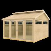 PLUS Multi Pavillon m/2 vinduer, 6 træelementer en dbl. dør og gulv