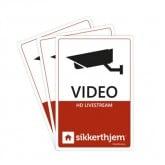 Undgå indbrud med SikkertHjem Præventive videomærkater.