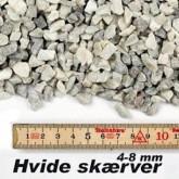 Granit skærver i hvid 4-8 mm i big bag á ½ m³