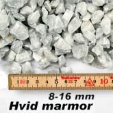 Marmorskærver i hvid 8-16 mm i big bag á ½ m³